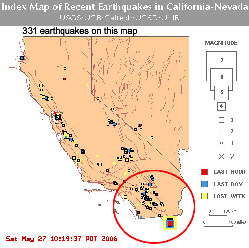 Baja California Earthquake History