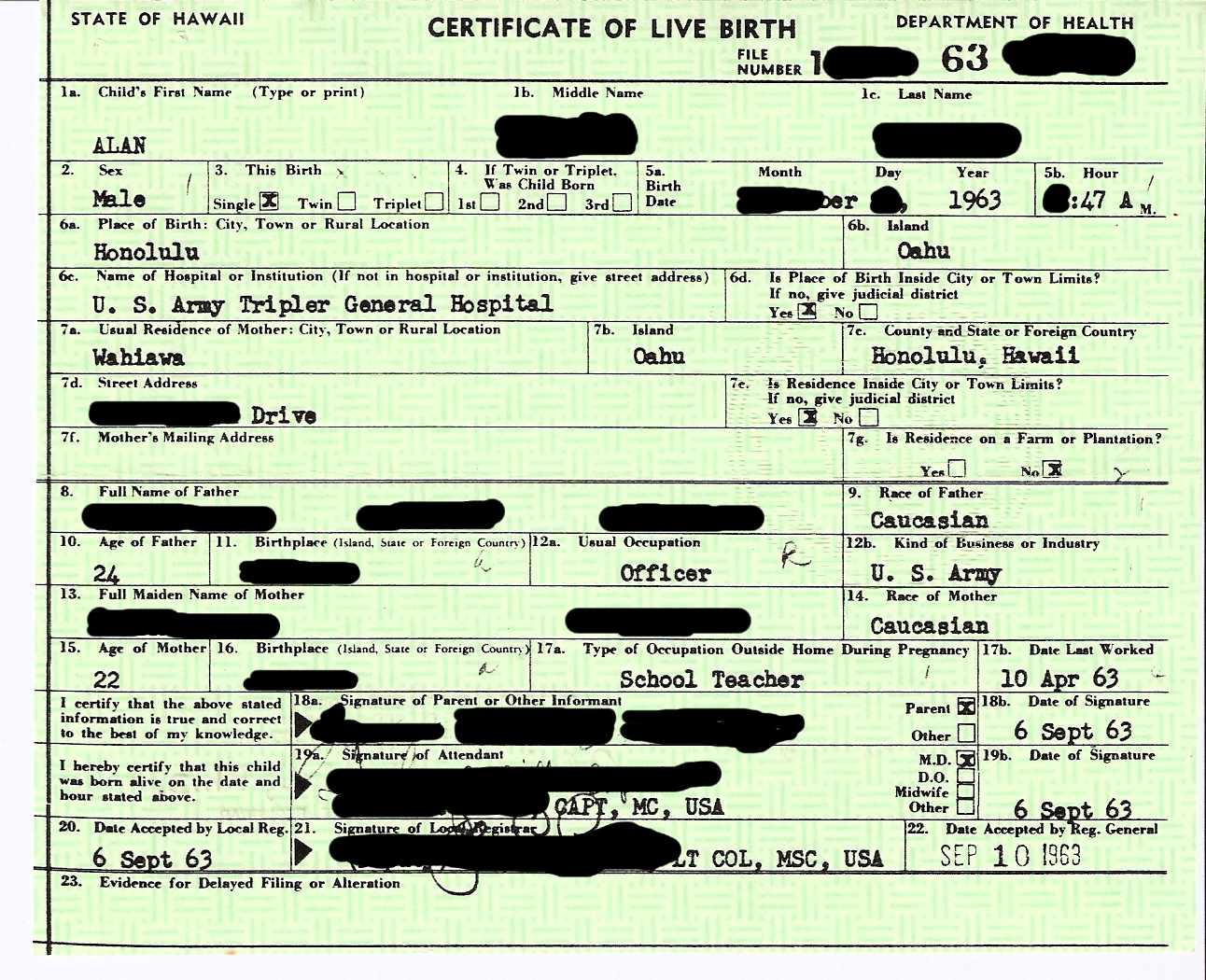 Is Your Social Security Number On Your Birth Certificate Straight
