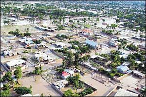 Tropical Storm Jeanne caused massive flooding and storm surges in Gonaives, Haiti, killing at least 50 people after battering the neighboring Dominican Republic and Puerto Rico. ARIANA CUBILLOS/AP