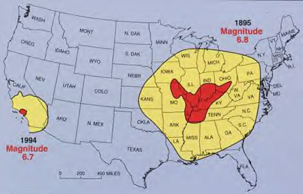 NEW MADRID FAULT BEWARE - Us fault map
