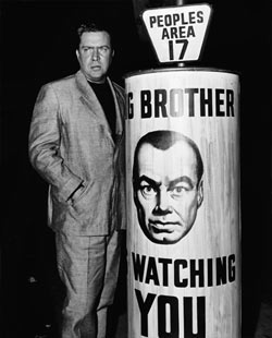 """the issue of authority as portrayed in george orwells book 1984 (george orwell, """"nineteen eighty-four"""")  (george orwell, 1984),  the big brother carries us to the issue of the control."""