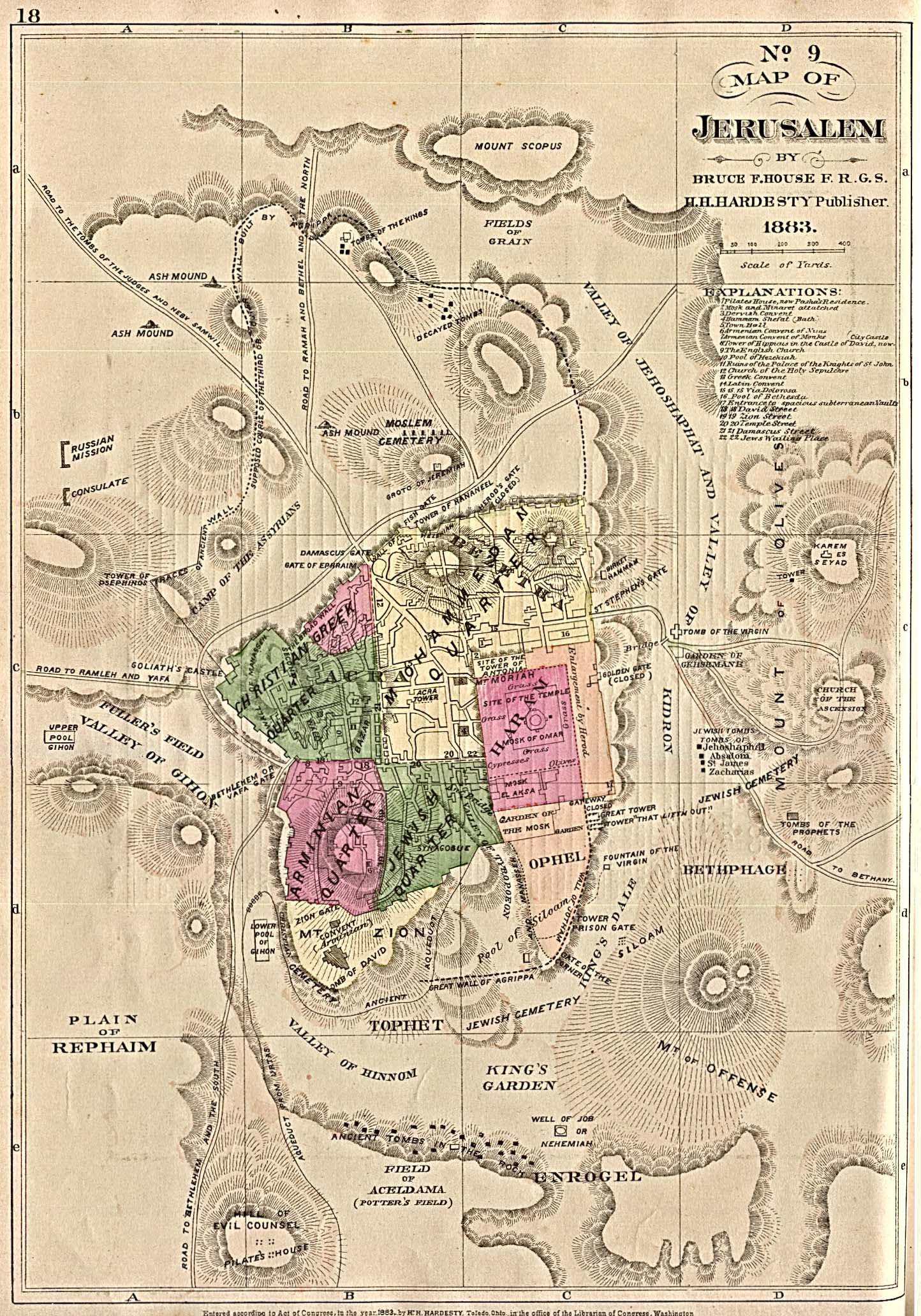 jerusalem map 1884