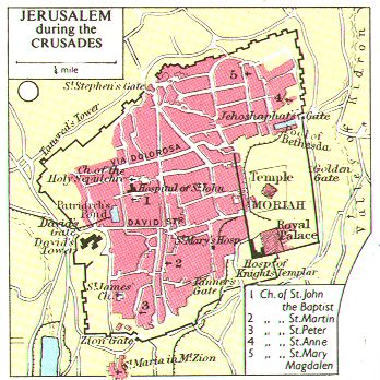 jerusalem crusades map