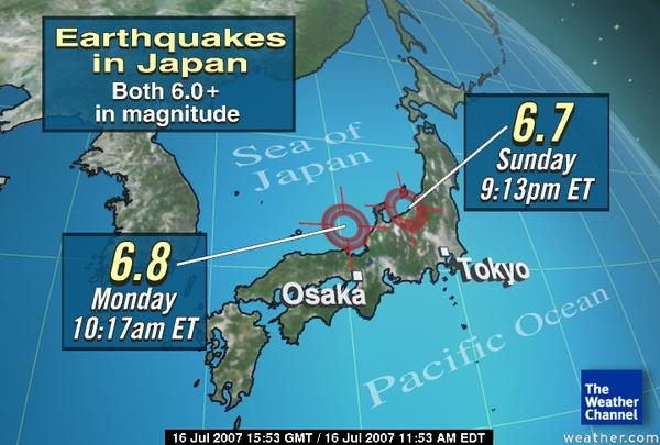 DEADLY JAPAN QUAKE - Japan map quake