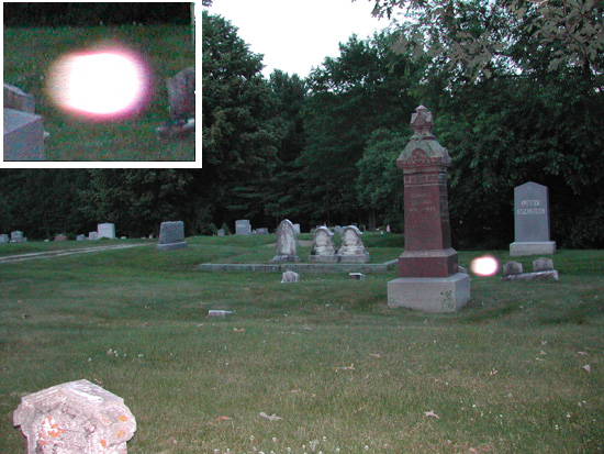 Ghost Orbs Caught On Tape At Cemetery, Ghost Sightings
