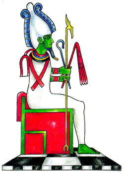 Osiris, Egyptian god of the underworld and of vegetation