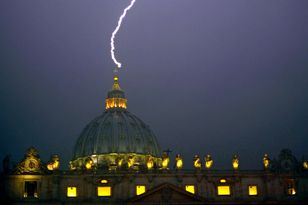 Vatican Lightning Strike