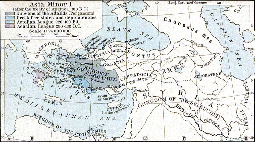 Map Of Asia Minor 60 Ad.The Mystery Of Pergamon