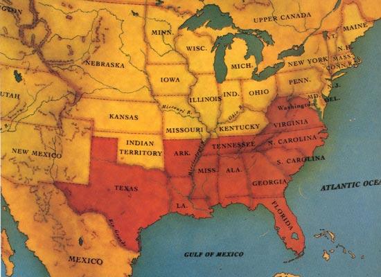 US CONFEDERATE STATES 1862 LA MAP EAST BATON ROUGE CARROLL FELICIANA PARISH WEST